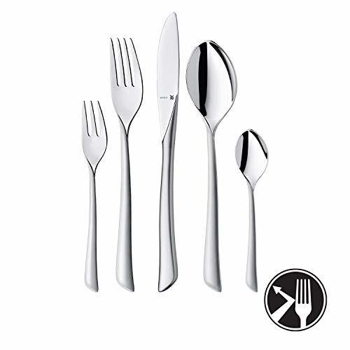 WMF Virginia Besteckset, für 12 Personen, eingesetzte Messerklinge, Cromargan Protect Edelstahl Poliert, Extrem kratzbeständig, spülmaschinengeeignet