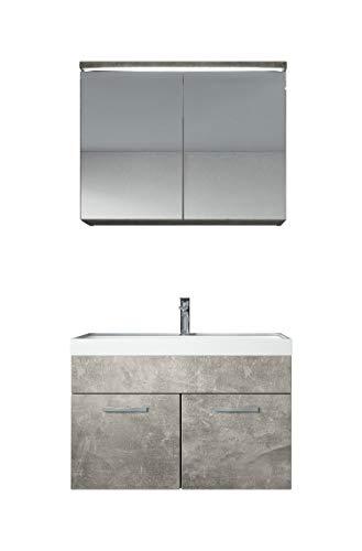 Badezimmer Badmöbel Paso 02 80 cm