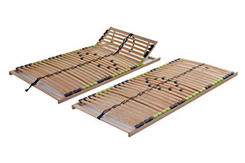 DaMi Basic 7 Zonen Lattenrost Buche mit 5 Fach Härteverstellung I Bettenrost Matratzenrost Federholzrahmen Holzlattenrost Lattenrahmen