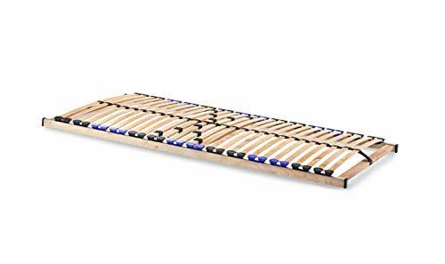 Lattenrost TwinFlex zur Selbstmontage/Lattenrahmen mit 28 Federleisten und 5-facher Härteverstellung - wahlweise starr oder mit verstellbarem Kopfteil - geeignet für alle Matratzen