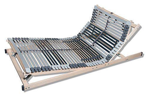 MediBalance 7 Zonen Lattenrost, 44 Federholzleisten, Mittelgurt, Verstellbarer Sitz- und Schlafkomfortrahmen