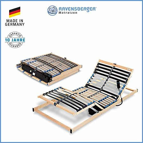 Ravensberger Matratzen® PURAMED ® Lattenrost | 7-Zonen-Birke-Lattenrahmen | 28 Leisten| Starr/Verstellbar/Elektrisch| KLAPPRAHMEN - Made IN Germany | 80-100 x 200 cm