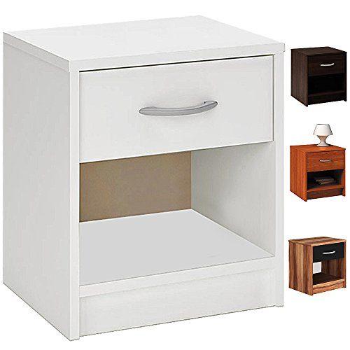 Deuba Nachttisch 35x40x50cm in 4 versch. Farben - Beistelltisch Nachtkommode Nachtkonsole