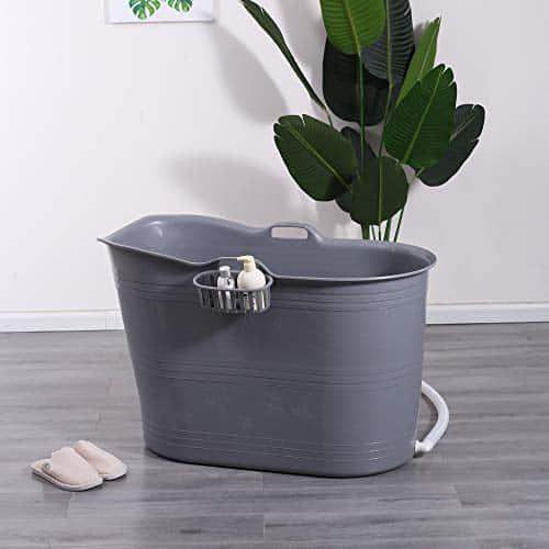 Mobile Badewanne, Ideal für das kleines Badezimmer, 99x52x65cm, Stylisch und Stimmungsvoll