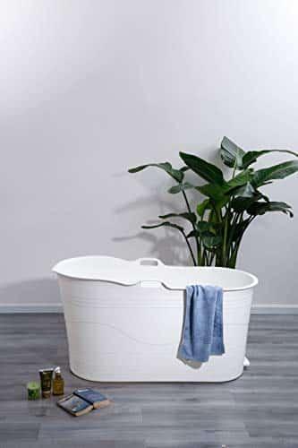 Mobile Badewanne für Erwachsene XL, Ideal für das kleines Badezimmer, 123 * 51 * 63cm, Stylisch und Stimmungsvoll