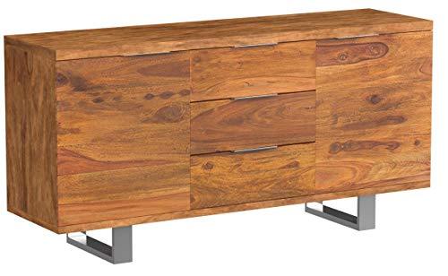 Massives Sideboard Sheesham Palisander FIRE & EARTH Stone Finish 160cm