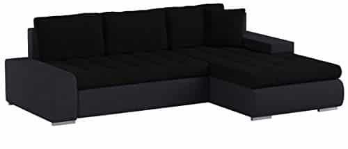Mirjan24 Elegante Sofa Orkan Mini mit Schlaffunktion und Bettfunktion, Eckcouch Ecksofa mit Bettkasten, Couch L-Sofa Große Farbauswahl, Beste Qualität