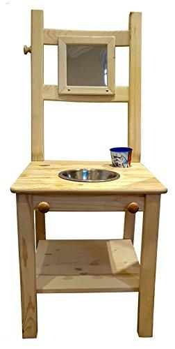 Deskiturm® Kinderwaschstuhl Waschstuhl Waschtisch Kinder - Waschbecken Kinderwaschbecken Lernturm Montessori