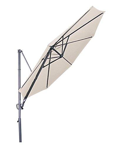 "Doppler Hochwertiger Ampelschirm Ravenna 300"" in Natur, neigbar, 360 Grad drehbar, UV-Schutz 50 Plus,"