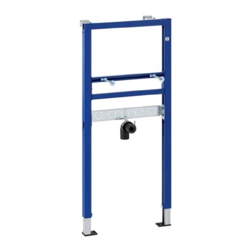 Geberit Duofix Basic Montage-Element für Waschtisch mit Einlocharmatur, selbsttragendes Vorwandelement für Waschbecken mit pulverbeschichtetem Rahmen, Höhe 112 cm Art.Nr. 458404001