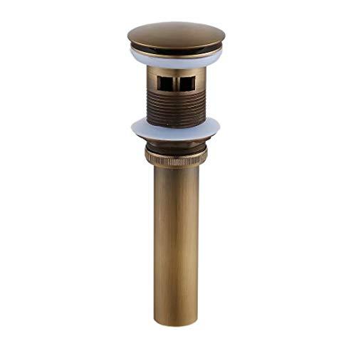 Weare Home Retro Einfach Design alle Messing Deko Pop Up Ventil Ablaufgarnitur Push Open Technik Waschbecken Ablauf