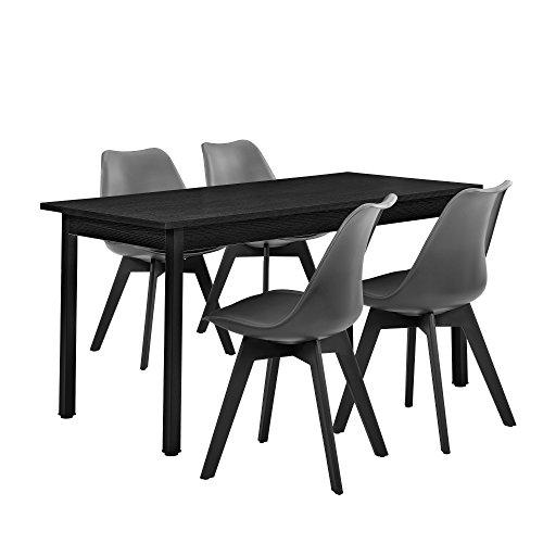 [en.casa] Moderner Esstisch + Stühle