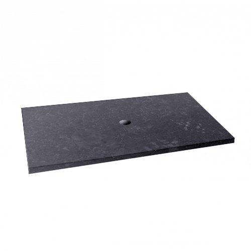 wohnfreuden Marmor Waschtischplatte Zen Marmorplatte anthrazit Bad WC Waschtisch ✓