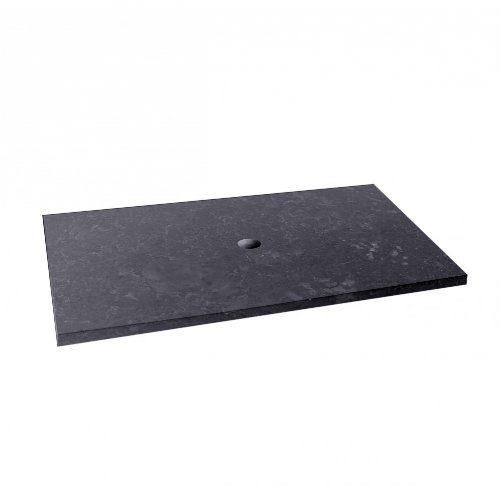 wohnfreuden Platte-Waschtisch Waschbecken-unterschrank Marmor grau 80x52x3 cm ✓ Naturstein-Platte für Waschbecken