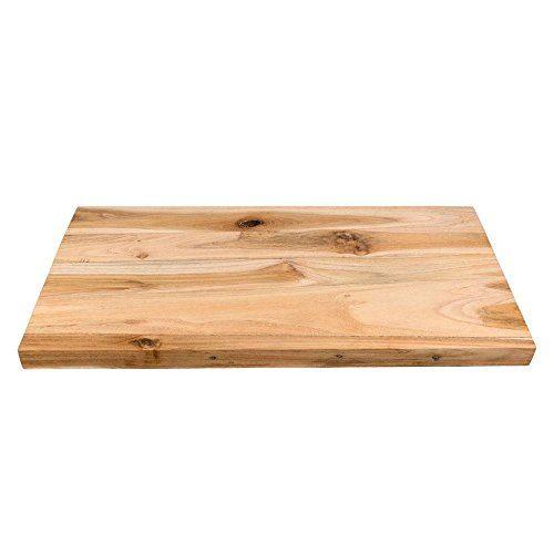 wohnfreuden Teak Holz Waschtischplatte Unterschrank Naturstein Waschbecken Gr. M 80x42x4 cm
