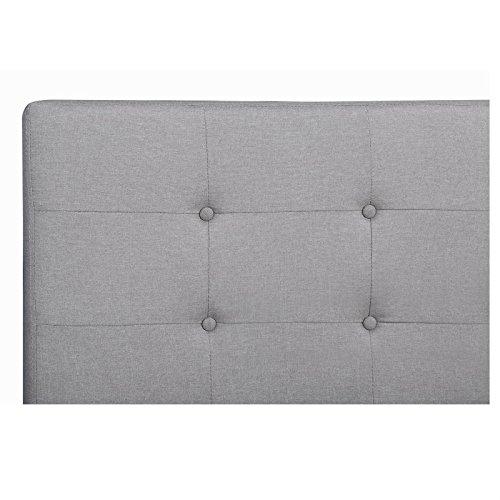 CARO-Möbel Polsterbett Adele Bettgestell 140x200 cm Doppelbett Designbett, inklusive Lattenrost, Stoffbezug in grau anthrazit