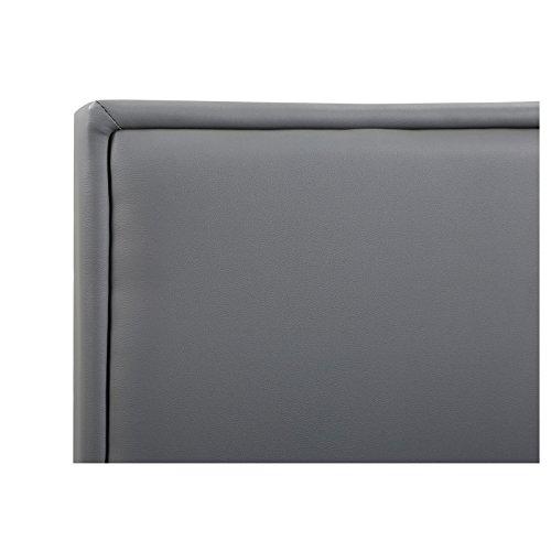 CARO-Möbel Polsterbett Doppelbett Celine grau, 120 x 200 cm, inklusive Lattenrost Kunstlederbezug